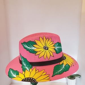 Hat hand painted  Mexican  hat size M new